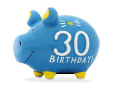 KCG Sparschwein zum 30. GEBURTSTAG, Spardose 30 Birthday Sparbüchse Geldgeschenk