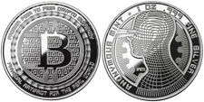 Bitcoin Guardian Polished Finish .999 Fine Silver Physical Cryptocurrency Coin