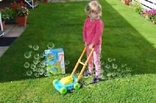 CHILDRENS KIDS AUTO SPILLPROOF BUBBLE BLOWING LAWN MOWER OUTDOOR GARDEN TOYS