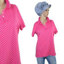 LANDS`END Vintage Look Polka Dots Poloshirt Shirt Bluse Gepunktet Rosa NEU 38 40