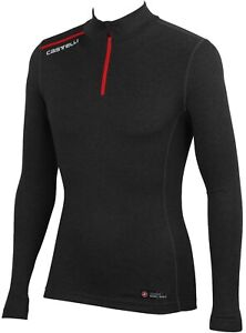 Men's Castelli Dolomite Zip Neck Merino Base Layer (Size XL)