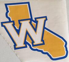 "Golden State Warriors Fathead California ""W"" State Logo 12"" x 12"" Nba Decal"