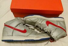 Nike Dunk High Hi Nylon 11.5 with box Red White Silver Blue Swoosh mens shoes