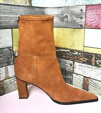 Zara SPLIT SUEDE MID-HEEL ANKLE BOOTS size Uk 7 New no box rrp 70