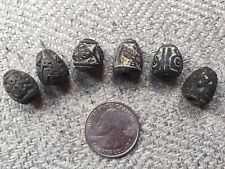 Pre Columbian Spindle Whorl Beads Ancient Ecuador Clay