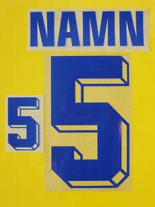 Set Flock Nameset home/away Trikot jersey shirt Schweden Sweden Sverige1994