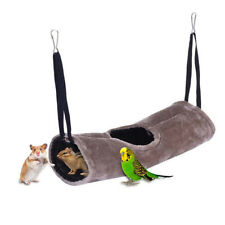 EG_ FM- Cute Pet Nest Hamster Bed Hammock Rat Squirrel Tunnel Cotton House Cage