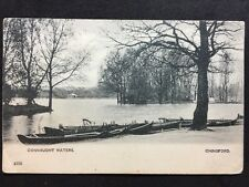 Vintage Postcard - Essex #A08 - RP Connaught Waters, Chingford - 1904
