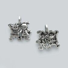 10 Breloques _ ENFANTS FILLE GARCON 13X12mm _ Perles charms créat bijoux _ B034