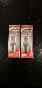 2 x 15 Watt Bulb Pygmy Oven EVEREADY Genuine E14 Salt Lamp SES Screw Cap 300c