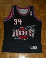 """Houston Rockets #34 Olajuwon Champion Jersey """"M"""" Basketball NBA Shirt"""