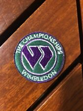 The Championship Wimbledon Tennis Round Patch Iron On 1 1/2�
