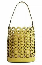 🌺🌹kate spade Medium Perforated Leather Bucket Bag Chartreuse Yellow