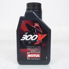 Lubrifiant, huile 15W50 moteur 4T 100% Synthèse pour motos bidon 1L Neuf