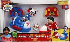 NEW Jada Toys Ryans World Bumper Cars Remote Control Twin Pack Combo Panda Ryan