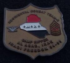 SHARP Camp Ripper 2nd Marine Regiment RCT USMC Corps Al Asad OIF Challenge Coin