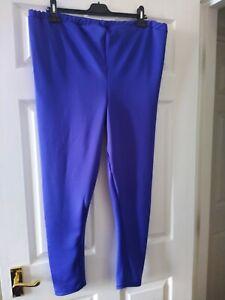 NWT Royal Blue leggings Plus size 30-32 good fit &  high waist stretchy warm