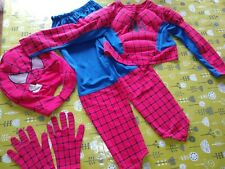 Spiderman Dressing Up Outfit 5 Parts Marks And Spencer Marvel 6-8 Years Worn...