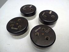 Vintage Electric Switches Socket Bakelite Ceramic Three-Hole Single Plug Vitreou