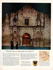Vintage advertising print Gas Oil Ethyl Corp Texas Santa Anna Remember the Alamo