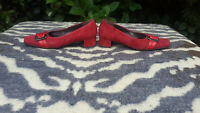 Gabor Red Suede Leather shoes UK 4 EU 37