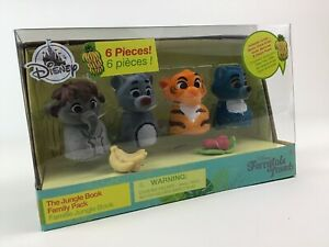 Disney Store Furrytale Friends The Jungle Book Family Pack Figure Set New Baloo