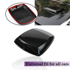 1PC Auto Air Flow Intake Vent Cover 3D Decorate Hood Scoop Bonnet ABS Adhesive