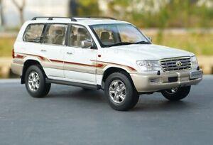 White 1/18 1:18 Scale Toyota Land Cruiser 4700 Cooluze LC100 Diecast Car Model