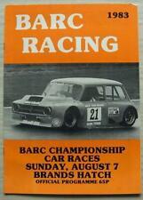 BRANDS HATCH 7 Aug 1983 BARC CHAMPIONSHIP CAR RACES A4 Official Programme