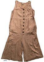 Blue Soul Size Small Sleeveless Linen Women Romper Jumpsuit Boho Style Pink