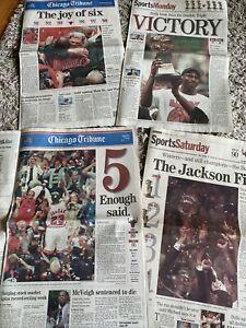 Chicago Bulls 1997/1998 Chicago Tribune Championship ORIGINAL NEWSPAPER