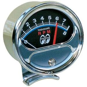 Mooneyes Half Sweep Tachometer Rat ROD HOT ROD OLD SCHOOL VTG MPG5000TM