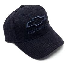 CHEVROLET GREY WOOL ADJUSTABLE HAT CAP CHEVROLET BOW TIE LOGO CURVED BILL RETRO
