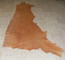 (Yve9692) Side of Medium Brown Printed Cow Leather Hide Skin