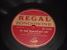 Paddy Beades Regal Zonophone IZ 1120 78 RPM Galway Bay Blackbird Avondale Irish