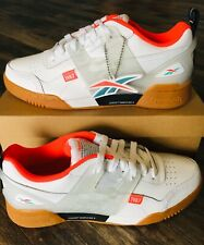 REEBOK CLASSICS WORKOUT PLUS ALTERED DV5243 White/Red Shoes Men's Size 11.5