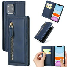 Leather Zipper Cover For iPhone 11 Pro Max XS XR XS 8 7 6s Plus Flip Wallet Case