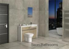 White / Cappuccino Gloss Bathroom Fitted Furniture 1300Mm