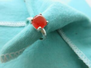 Tiffany & Co. Stacking Sugarloaf Ring Orange Stone Size 5 Picasso