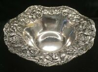 Schofield Silver Sterling Silver Repousse Candy Nut Bowl Baltimore Rose Pattern