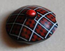 LEGO - Minifig, Headgear Hat, Scottish Tam o'Shanter / Tartan Pattern - Black