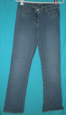 Baccini Straight Leg Low Rise Stretch Blue Jeans Sz 4 W:28 H:34 R:8 1/2 I:30 1/2