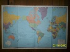 25x38 Hammond Superior World Map, Wall Poster, New