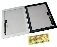 iPad 4 iPad4 Front Touch Screen Digitizer Panel Lens Home Button Flex White UK