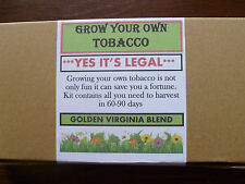 Grow Your Own Tobacco Complete Kit 'Free Delivery'