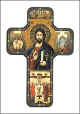 TEACHING CHRIST - GOD JESUS - WOODEN CROSS STATUES CANDLES PICTURES ALSO LISTED