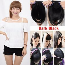 Real AS Human Hair Clip In Human Hair Extensions One Piece Half Full Head Piece