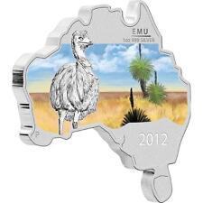 Australia 2012 Australian Map Shaped Coin Series - Emu 1oz Proof Silver Coin