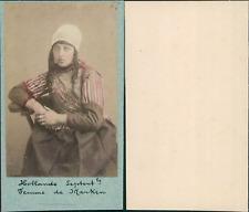Costume Pays Bas, Marken CDV vintage albumen, Tirage albuminé  6,5x10,5  C
