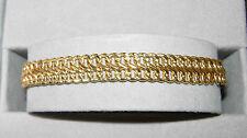 """14KT Yellow Gold Fancy Woven 6 3/4"""" Bracelet Approx. 5.4 Grams"""
